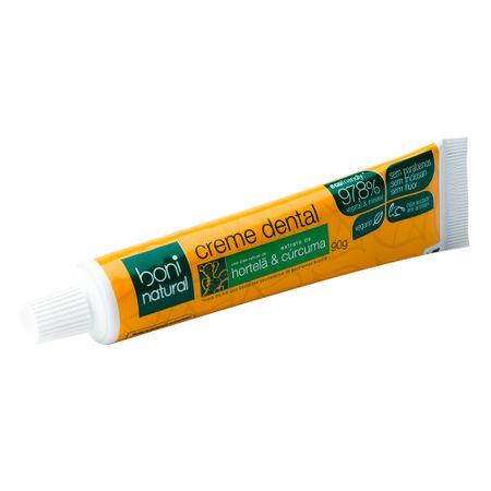 Creme Dental Boni Natural Hortelã & Cúrcuma - 90g