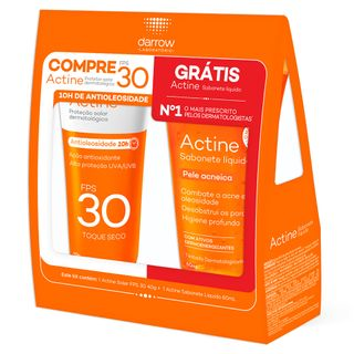 darrow-actine-kit-protetor-solar-sabonete-liquido-facial
