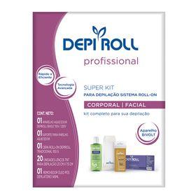 depiroll-depilacao-roll-on-tradicional-kit-aparelho-aquecedor-suporte-cera-lencos-removedor