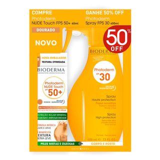 bioderma-photoderm-kit-protetor-solar-nude-touch-cor-dourada-photoderm-spray-fps30