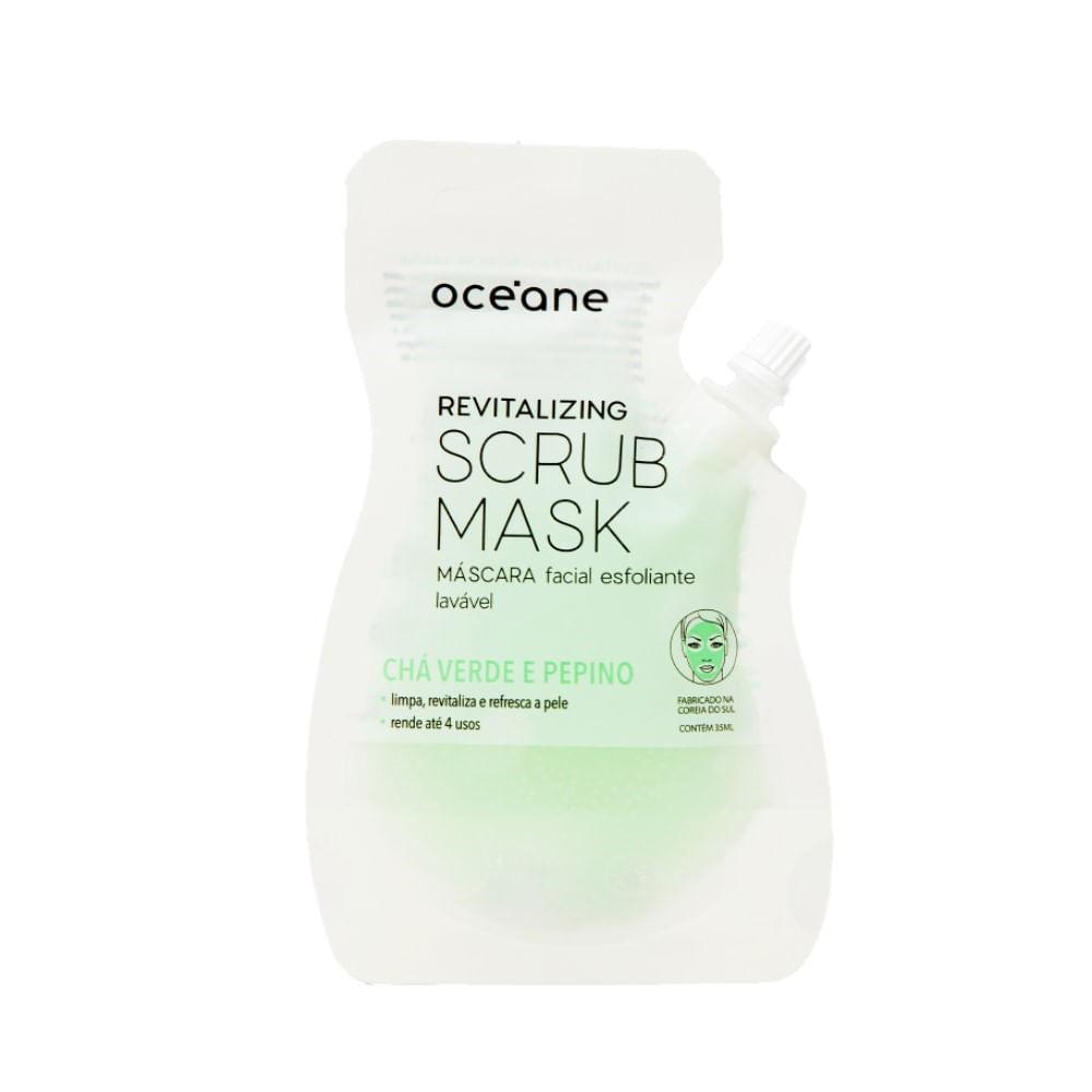 Máscara Facial Esfoliante Océane - Revitalizing Scrub Mask Chá verde e Pepino