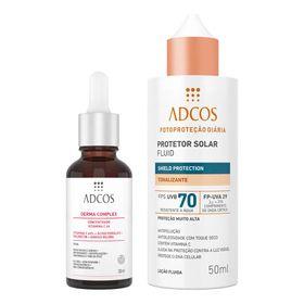 adcos-derma-complex-fps-70-fluid-tonalizante-kit-serum-anti-idade-protetor-solar