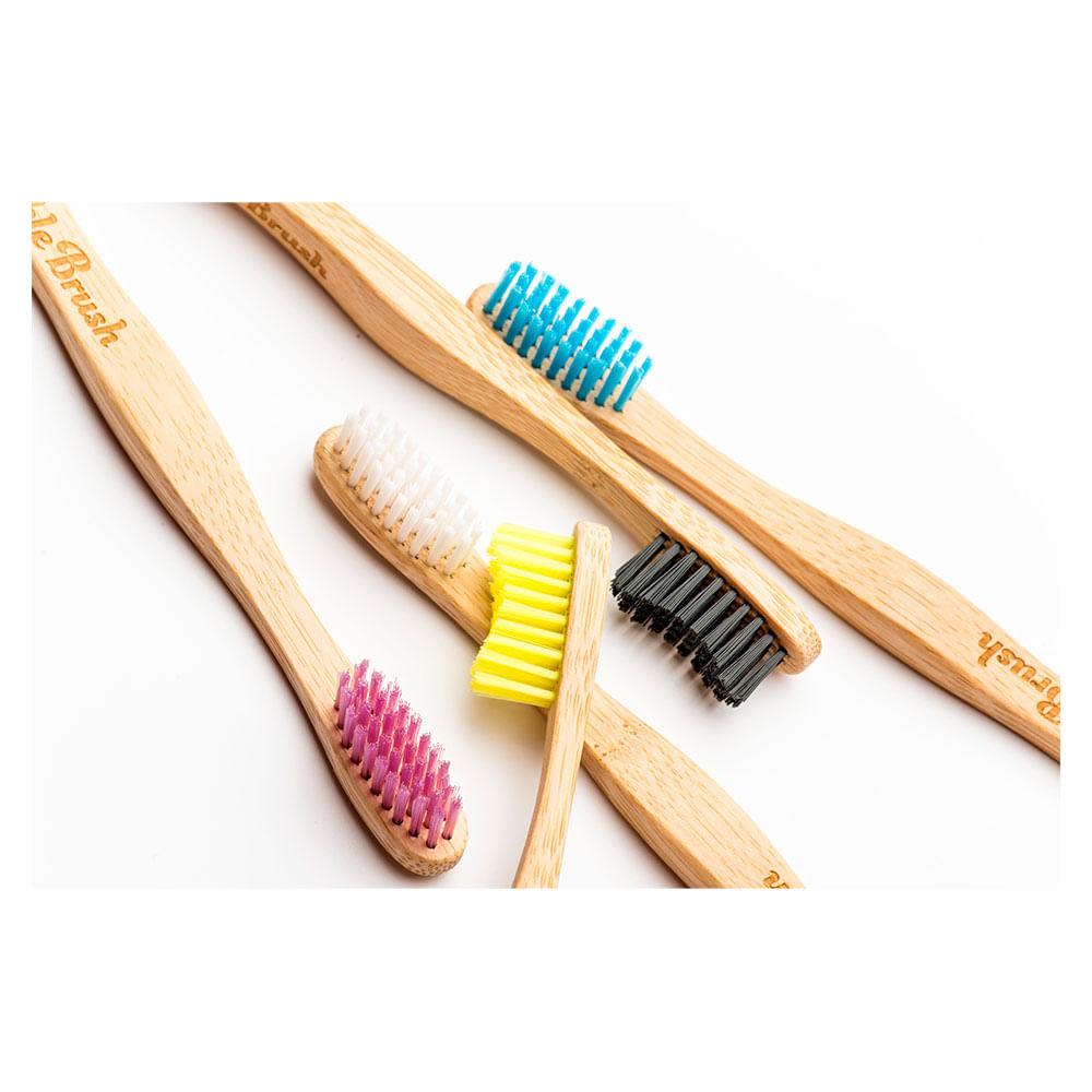 Escova Dental Anatômica de Bamboo Sustentável The Humble