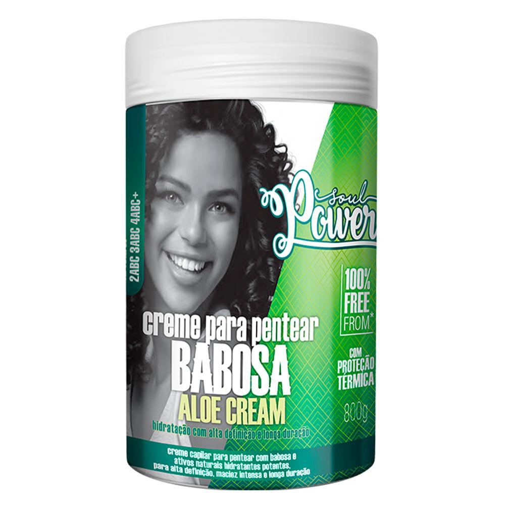 Soul Power Babosa Aloe Cream – Creme de Pentear Hidratante