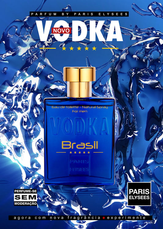 Vodka Brasil Blue Paris Elysees - Perfume Masculino - Eau de Toilette