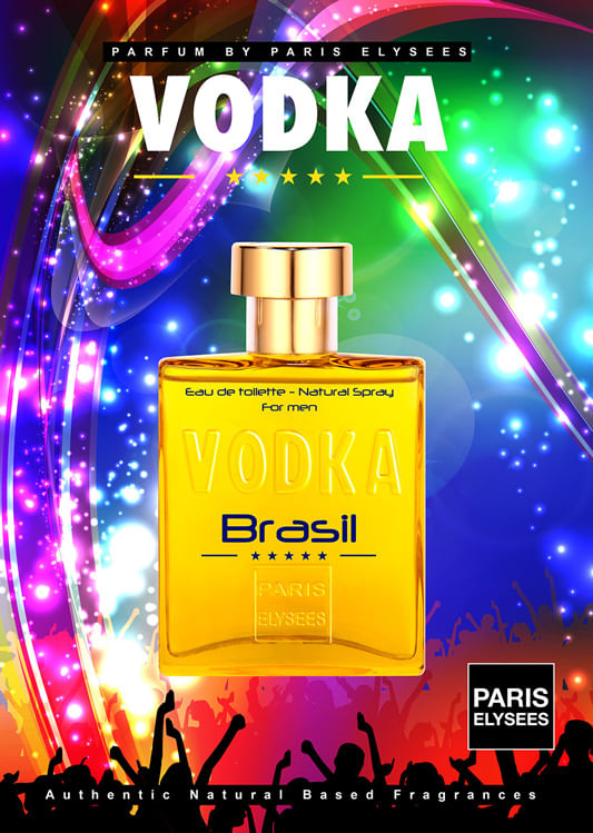 Vodka Brasil Yellow Paris Elysees - Perfume Masculino - Eau de Toilette