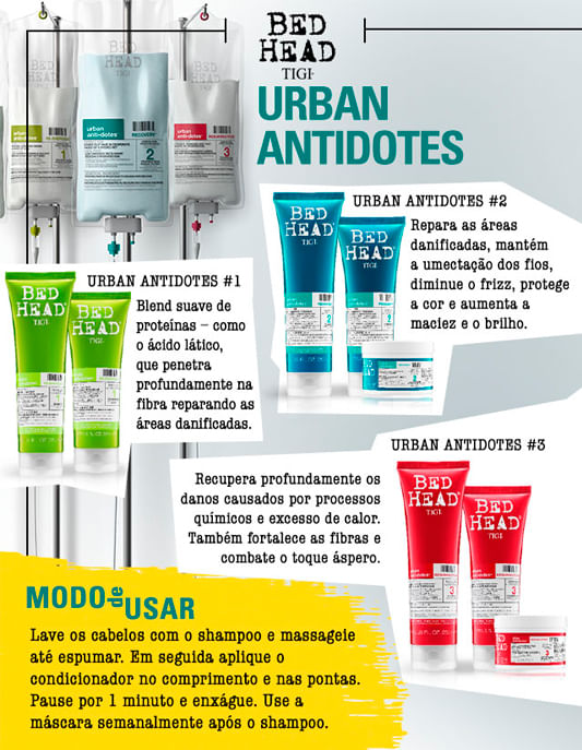 Bed Head Tigi Urban Antidotes Mask Tratament 3 Resurrection - Máscara de Reconstrução