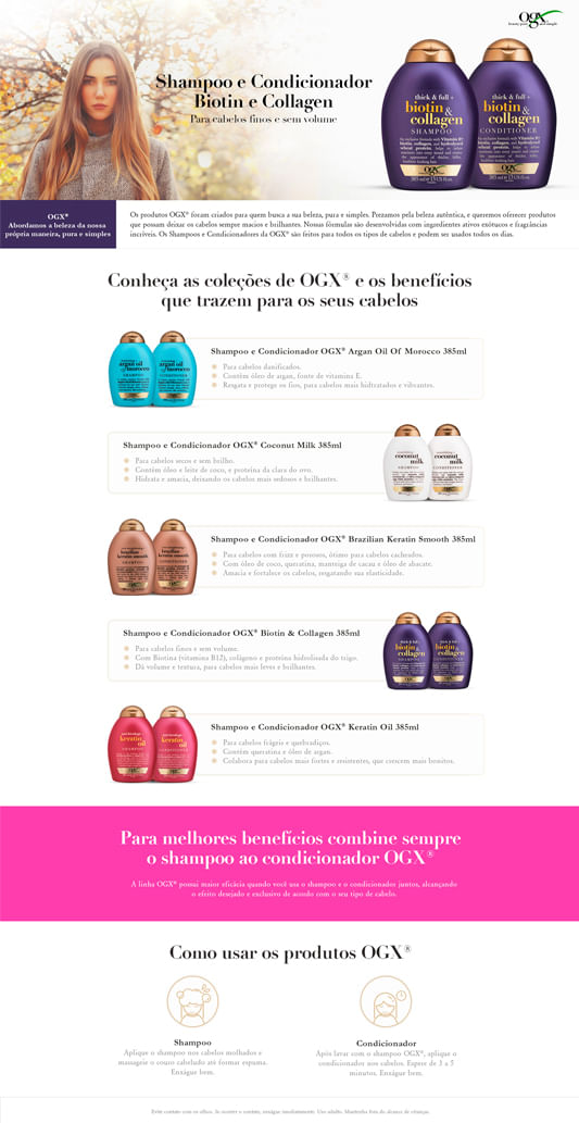 OGX Biotin & Collagen - Shampoo Volumizador