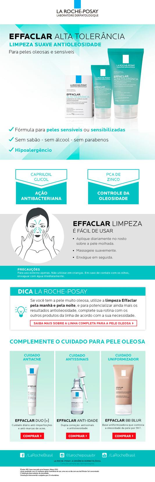 Gel de Limpeza Facial La Roche Posay - Effaclar Alta Tolerância