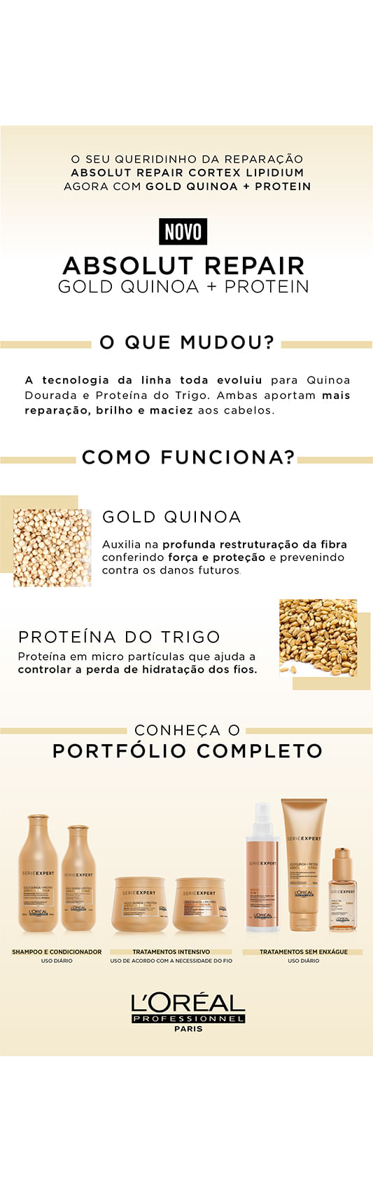 L'Oréal Professionnel Absolut Repair Gold Quinoa + Protein - Sérum