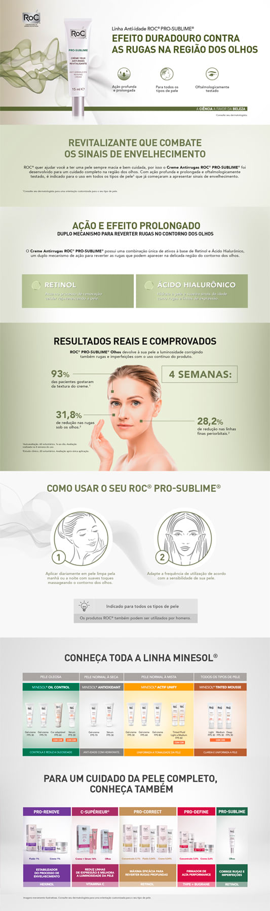 Pro-Sublime Anti-Wrinkle Eye Roc - Tratamento Facial Antirrugas