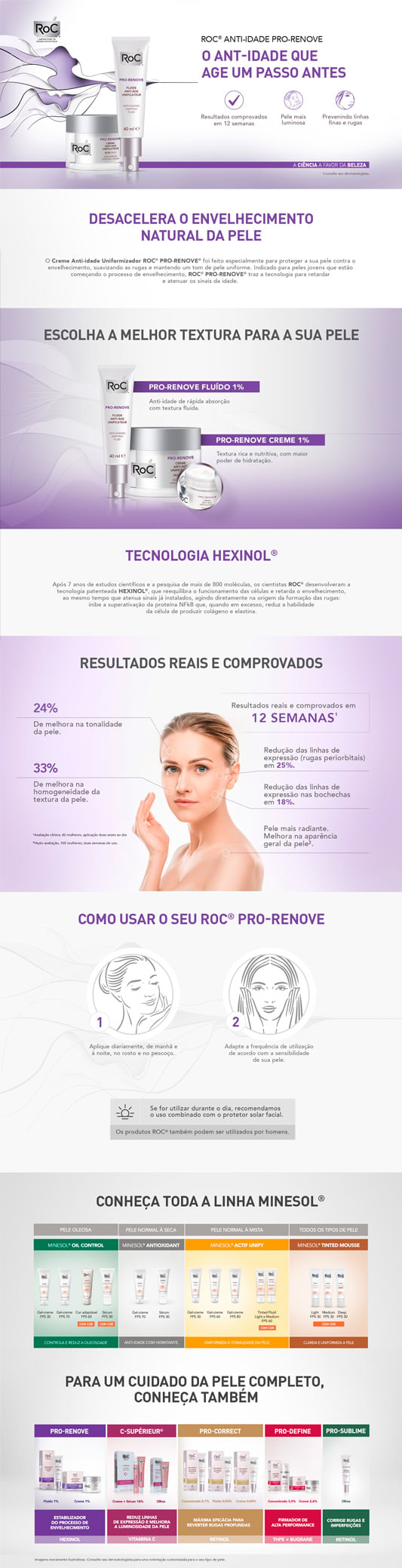 Pro-Renove Anti-Ageing Unifying Cream Roc - Tratamento Anti-Idade