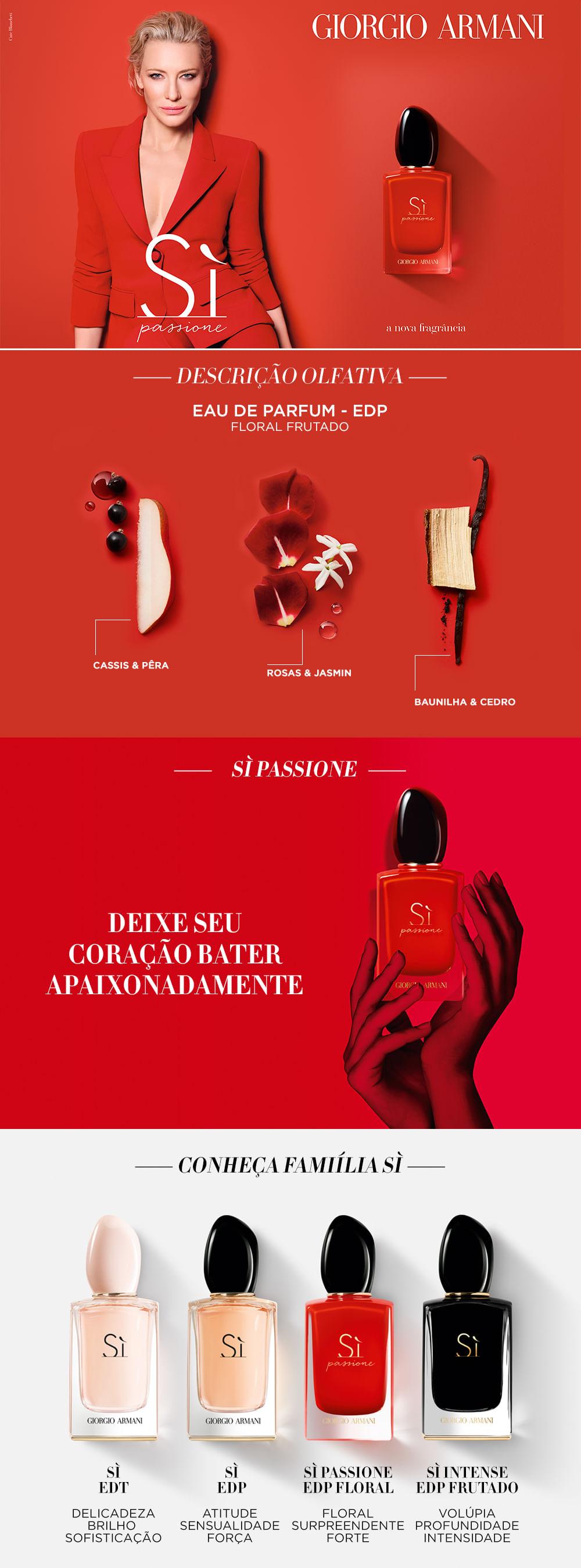 Sì Passione Giorgio Armani Perfume Feminino - Eau de Parfum