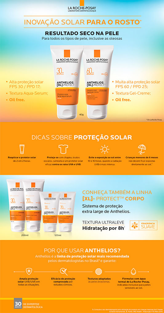 Protetor Solar La Roche-Posay Anthelios XL Protect FPS60