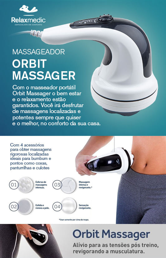 Massageador Relaxmedic - Orbit Massage