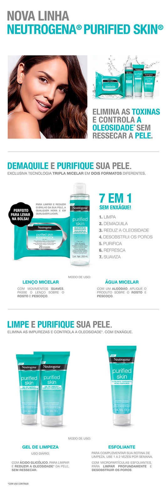 Gel Limpador Facial Neutrogena - Purified Skin