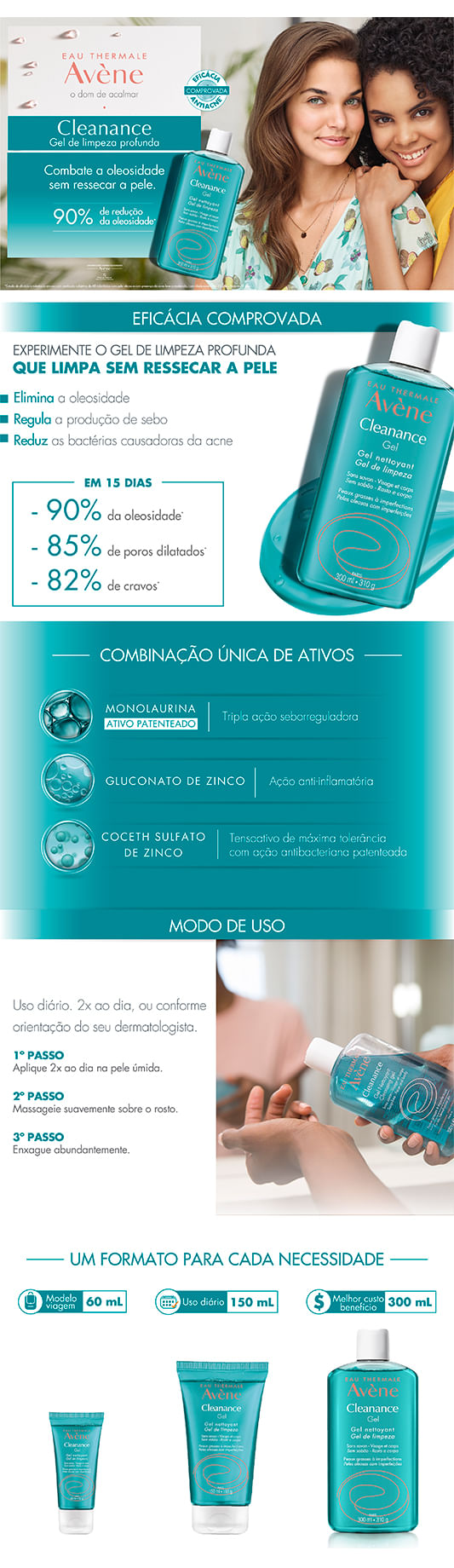 Gel de Limpeza Facial Avène - Cleanance Gel